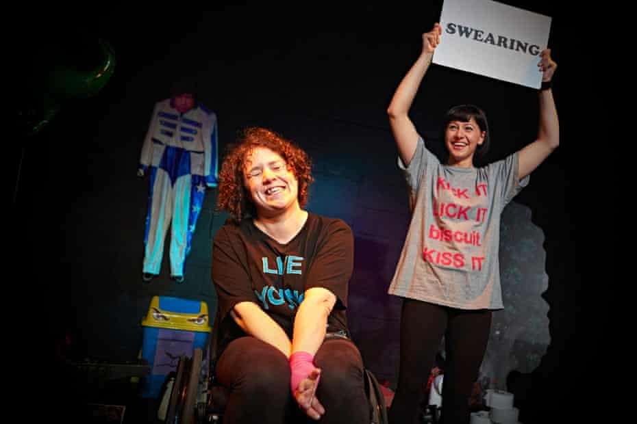 Jess Thom and Jess Mabel Jones in Backstage in Biscuit Land