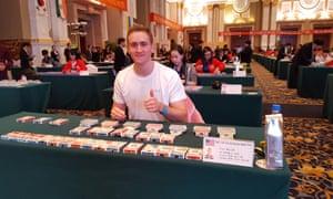 Alex Mullen at the 2015 World Memory Championship in Chengdu, China.