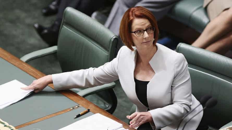 Julia Gillard in parliament