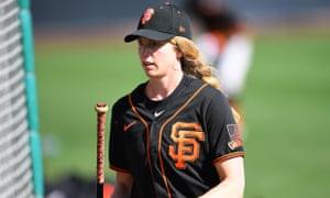 Alyssa Nakken has been a full-time coach with the Giants since January