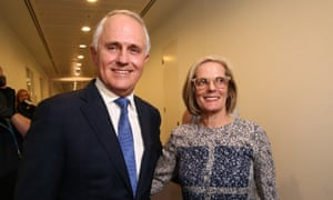 Prime Minister designate Malcolm Turnbull with his wife Lucy after a press conference in the Blue Room of Parliament House in Canberra this evening, Monday 14th September 2015.