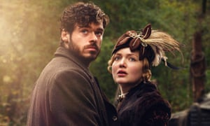 Oliver Mellors, played by Richard Madden, with Constance Chatterley, played by Holliday Grainger, in a 2015 BBC adaptation of Lady Chatterley's Lover.