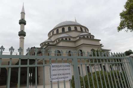 A general view of the now closed Gallipoli Mosque in Auburn on April 08, 2020 in Sydney, Australia.