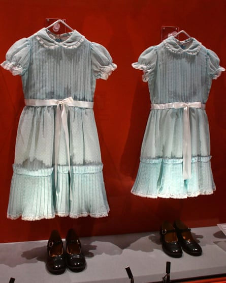 Dresses and shoes worn by Grady's daughters in The Shining.