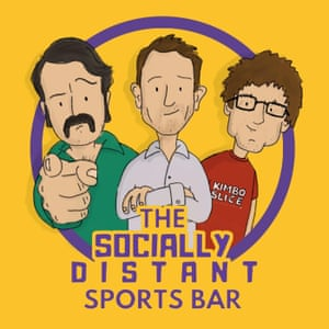 The Socially Distant Sports Bar Podcast Poster/logo