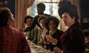 Julia Ormond (far right) as Mrs Wilcox in the 2017 TV adaptation of Howards End.