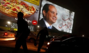 A billboard in Cairo shows Abdel Fatah al-Sisi during the presidential election.