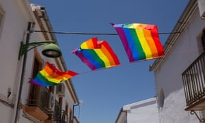 Rainbow flags all over Villanueva de Algaidas