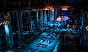 Kraftwerk, Berlin, the dimly lit venue for the performance of Sleep.