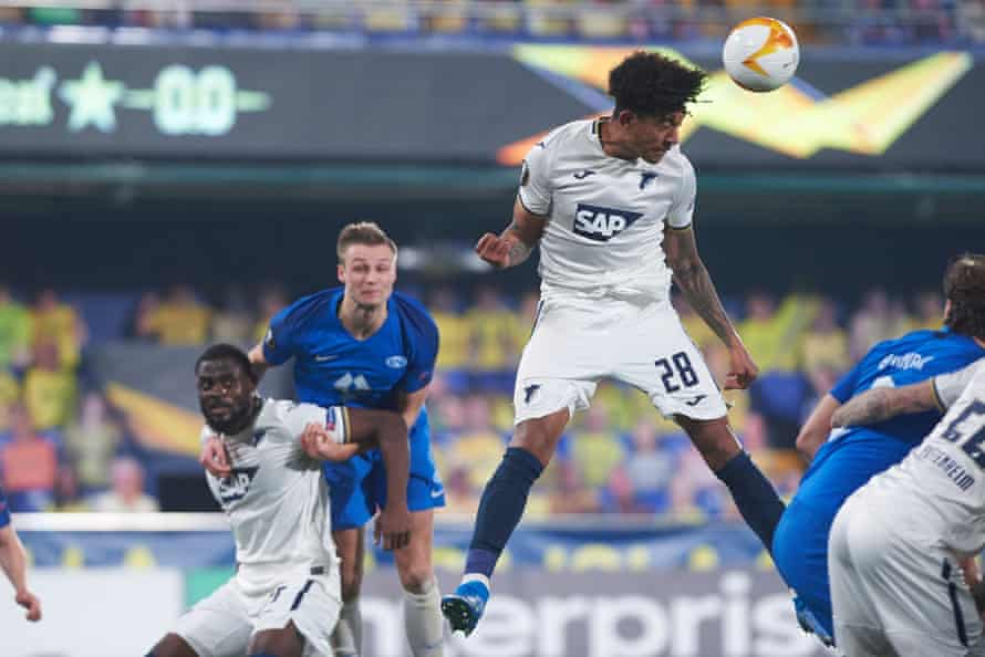 Richards in action for Hoffenheim against Molde in the Europa League last month.