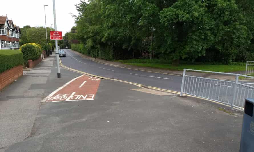 Junction of King Lane and Nursery Lane in Leeds.
