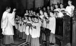 Choristers at Christ Church, Oxford, in the 1950s.