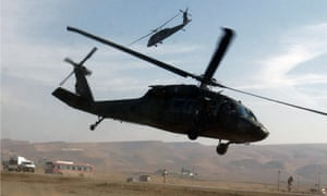 Sikorsky UH-60 Black Hawk helicopters flying in Mosul, Iraq