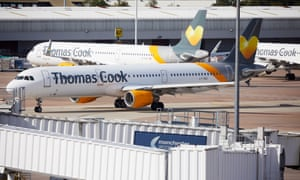 Thomas Cook aircraft after the company went into liquidation when last-ditch talks failed