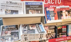 French media to stop publishing photos and names of