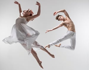 Cordelia Braithwaite and Paris Fitzpatrick in Matthew Bourne's Romeo and Juliet.