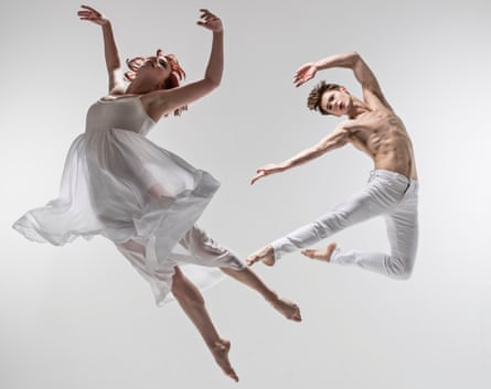 Cordelia Braithwaite and Paris Fitzpatrick in Matthew Bourne's Romeo and Juliet.