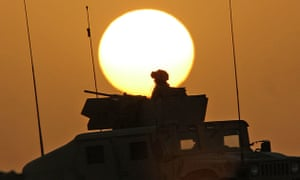 Humvees and heat in Spoils. Photograph: AFP/Getty Images