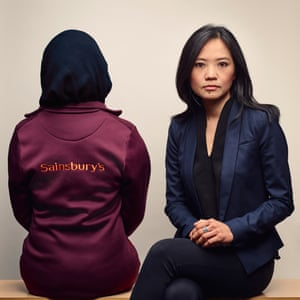 Linda Wong of Leigh Day solicitors with client Zahra Hussein. Photograph: Ben Quinton for the Guardian