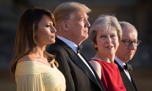 Melania and Donald with Theresa and Philip May.