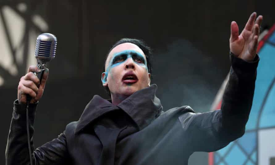 Marilyn Manson at the Rock on a festival in Ohio in 2015.