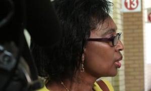 Patrick Karegeya's wife, Leah.