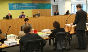 Council Assisting, Mark Moshinsky, at the opening of the Royal Commission into Family Violence.