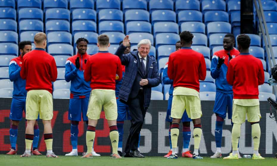 Roy Hodgson receives a guard of honour from both sets of players for his last home game as Crystal Palace manager.