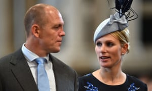 Mike and Zara Tindall in June
