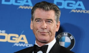 Pierce Brosnan at an awards night earlier this year. Police say the former James Bond actor has been stopped at a Vermont airport security checkpoint because of a knife he was carrying.