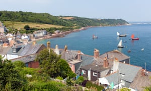 The coast by the Cornish villages of Cawsand and Kingsand