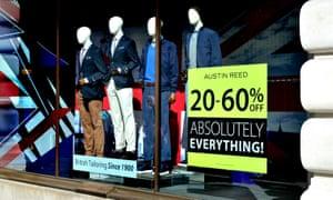Sales sign in shop