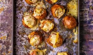 'Bake until golden': stuffed onions.