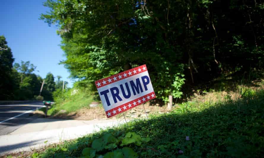 A Trump campaign sign in Pennsylvania's Rust Belt region.
