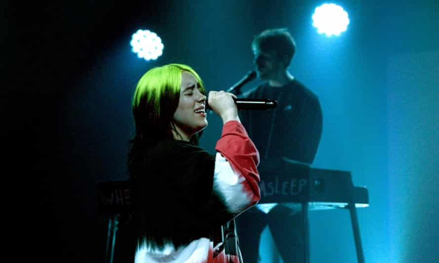 Billie Eilish and her brother, Finneas O'Connell, at iHeartRadio ALTer EGO 2021