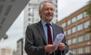 The mayor of Leicester Sir Peter Soulsby talks to the media.