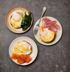 Decadent brekkie: Felicity Cloake's eggs royale.