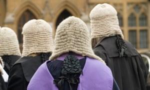 Judges walk in Westminster