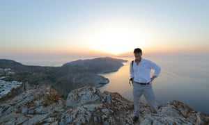 Kevin on the peak above Chora.