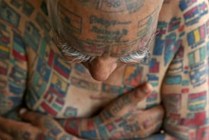 Indian man Guinness Rishi, a multiple world record holder, including for having the most flags tattooed on his body
