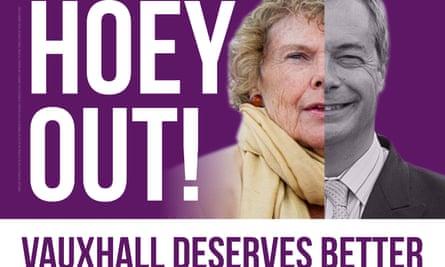 The Liberal Democrat leaflet opposing Kate Hoey.