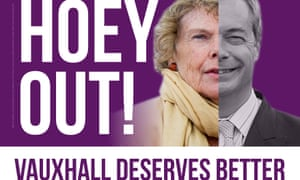 The Liberal Democrats' Hoey Out leaflet