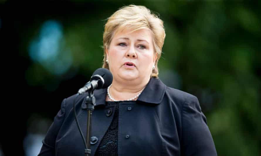 The Norwegian prime minister Erna Solberg