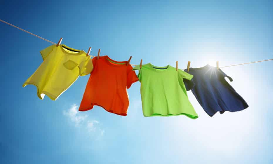 Clothes on a line