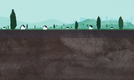 Review underland illustration of soil for Robert Macfarlane cover story