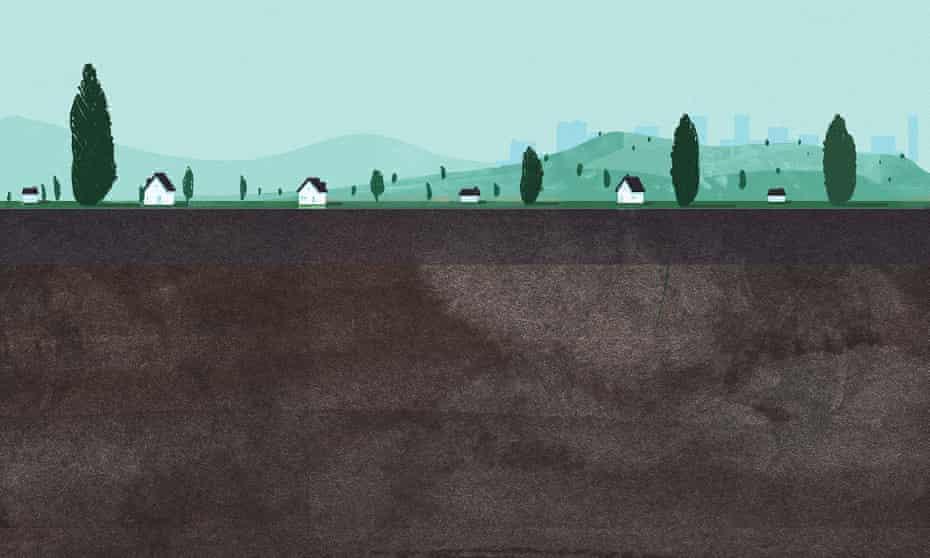 Review underland illustration of soil for Robert Macfarlane cover story
