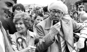 The Labour party leader, Michael Foot, campaigning in 1983, alongside his partner, the documentary maker Jill Craigie.
