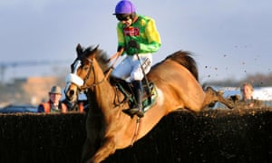 Ruby Walsh rides Kauto Star to victory in the 2008 King George VI Chase at Kempton.