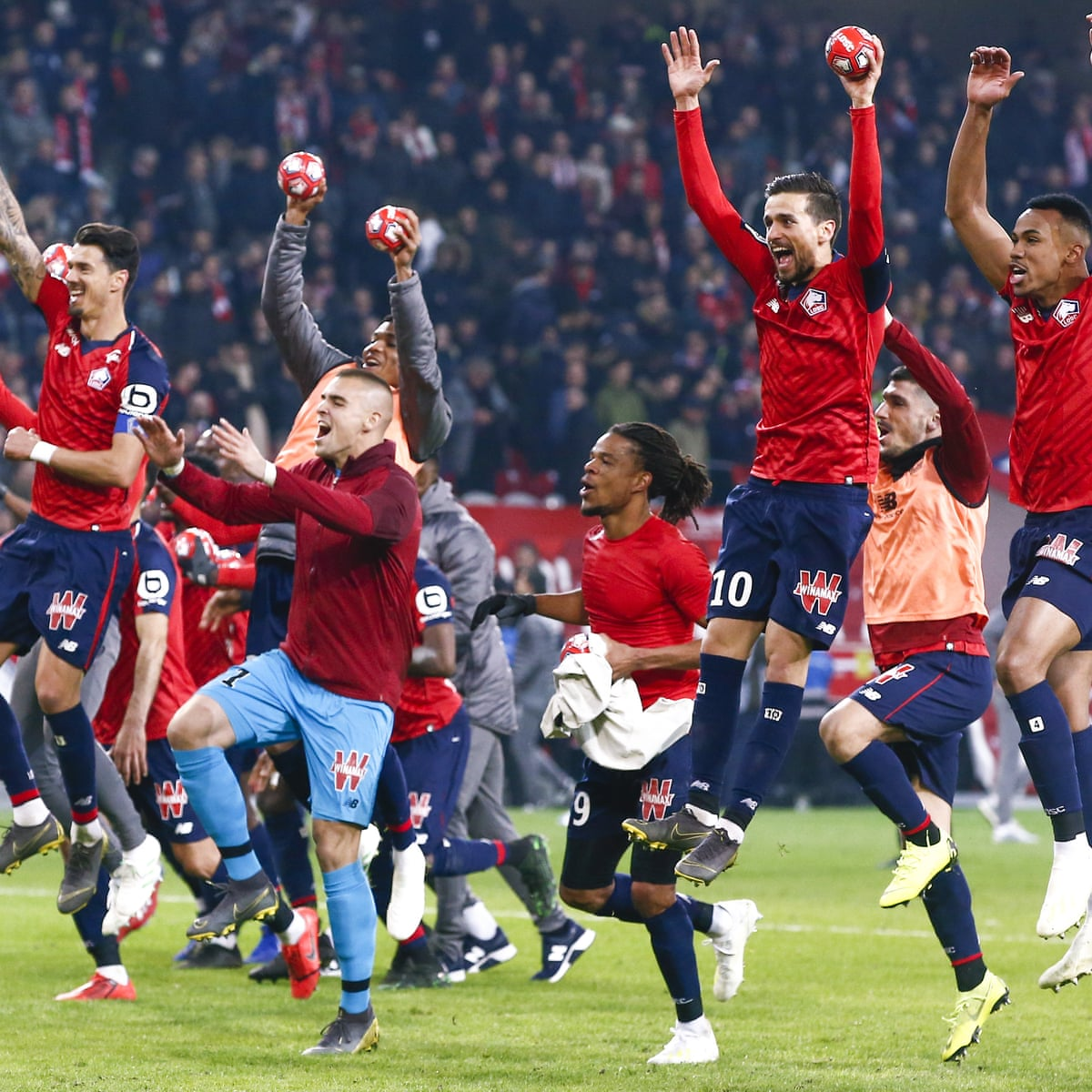 Lille Hammer Beginners Psg As They Close In On The Champions League Paris Saint Germain The Guardian