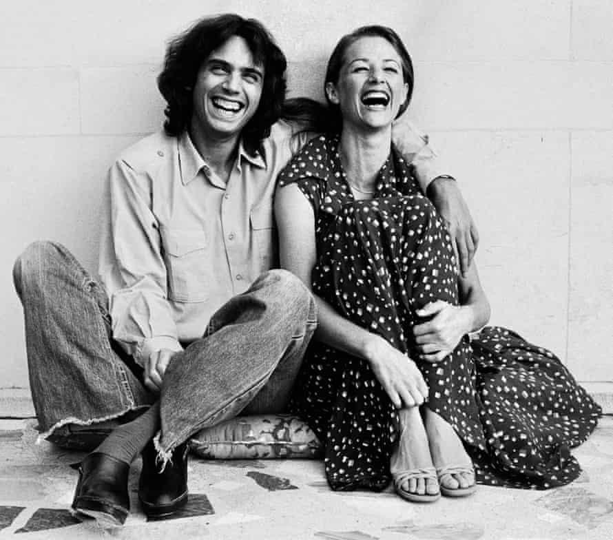 Jean-Michel Jarre with Charlotte Rampling, 1977.